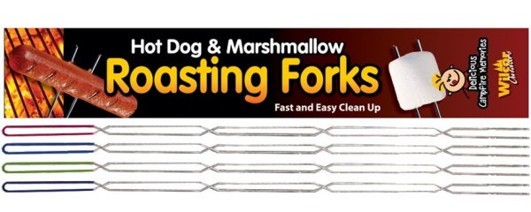 Roaster Toaster Hot Dog And Marshmallow Forks 4 Pack